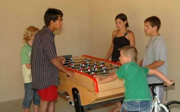 camping Dordogne salle de jeux